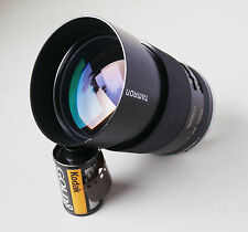Fast Tamron 135mm f2.5 BBAR MC Adaptall 2 Close Focus Lens with Minolta MD Mount