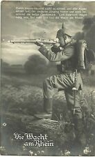 GERMANY, WWI POSTCARD. YEAR 1915, MILITARY, FELDPOST, DER WACHT AM RHEIN # 02