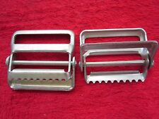 "2 VINTAGE NOS NORTH & JUDD 2"" CLASP SLIDE BUCKLES HARNESS HARDWARE, USA MADE"