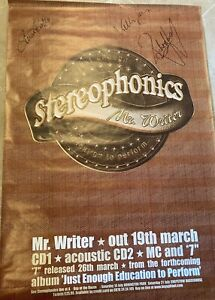 Stereophonics Signed Poster By Band