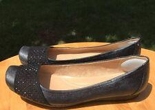 Naturalizer N5 Comfort Women's Black Faux Leather Vine Flats Size 8.5M US