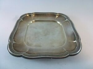 VINTAGE Art Deco Solid 830 silver square design bowl 70g Free shipping
