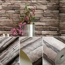 10M Wallpaper Brown Chinese Imitation Brick Retro Pattern Luxury Classical Wall