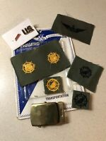 US Army Transportation Corps-Sr Aviator Patch-Belt Buckle-US Pin Lot 8pc Total