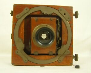 Antique Folding Plate Camera Labelled Boots the Chemist with B.C.C Planomat Lens