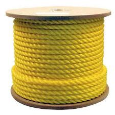 3/4 x 600' Yellow Poly Rope - 3 Strand Twisted Polyproplyene
