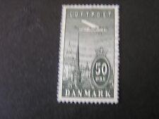 **DENMARK, SCOTT # C9, 50o. VALUE OLIVE BLACK 1934 AIR POST ISSUE USED