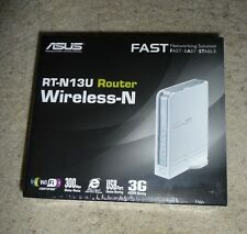 New Sealed ASUS RT-N13U Wireless N300 Router w/ USB, DD-WRT Firmware 3G