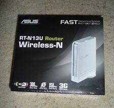 New Sealed ASUS RT-N13U Wireless N300 Router w/ USB, DD-WRT Firmware 3G