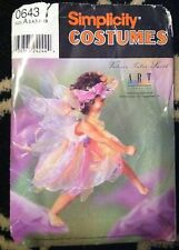 SIMPLICITY COSTUMES SEWING PATTERN 0643 FAIRY COSTUME