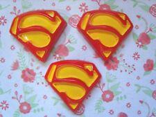 3 x Superman Logo Flatback Cabochon in Resina Abbellimento Crafts