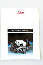 Broschüre Prospekt Katalog LEICA ALLES AUS EINER HAND - DER OPTIK WEGEN 1988 D