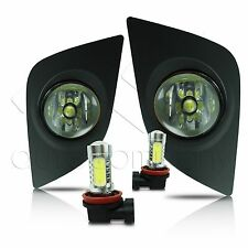 14-15 Toyota Corolla Fog Lights w/Wiring Kit & High Power COB LED Bulbs - Clear