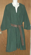 "Sca Medieval Garb Chest 66"" around t-tunic shirt Larp Renaissance Solid Green"