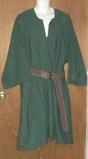 "Sca Medieval Garb Chest 66"" around t-tunic shirt Larp Renaissance Solid Green"