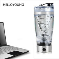 Protein Powder Shaker Bottle Electric 450ml Glass Leakproof AutoStir Blender