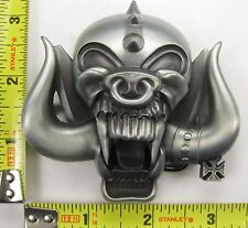 DEMON METAL BELT BUCKLE MONSTER PIG NEW B513