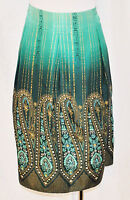 Beautiful CHIC NWT Kelly & Diane Silk Paisley India Inspired Flowing Skirt 14