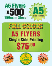 500 A5 Single Sided Flyer Printing on 150gsm Gloss