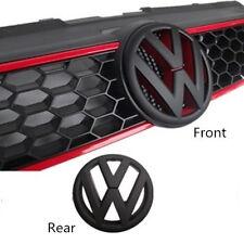 GRILLE & HATCH BADGE FOR VW VOLKSWAGEN GOLF6 MK6 GTI OR GOLF R Matte Black/Red
