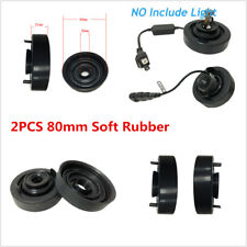 2Pcs 80mm Soft Rubber Car LED Head Lamp Light Housing Extended Dust Cover Caps