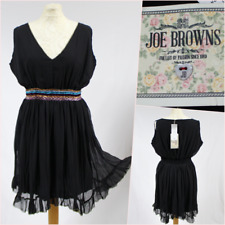 Joe Browns Women Dress UK 14 Black Chiffon Empire Evening Party Dance NWT