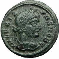 CRISPUS Caesar Constantine the Great son 321AD Ancient Roiman Coin WREATH i75848