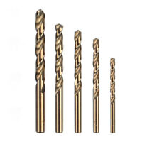 5pcs HSS M35 Cobalt Drill Bits Kit Set For Metal Steel 1mm 2mm 3mm 4mm/5mm