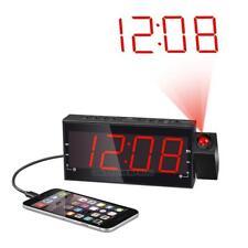 Creative Digital LED Projection Alarm Clock with FM 1.8 LED Display USB Charging
