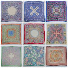 More details for vintage paisley handkerchief hanky 1930s 1950s printed brightly coloured 30s 1a