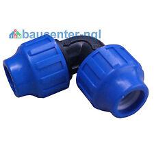 """PE Rohr Winkel Bogen 90° reduziert Innengewinde Außengewinde 1/2"""" 3/4"""" 1"""""""