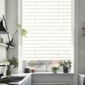 CLEARANCE Venetian Blinds 63mm Slats Blinds Privacy Shade Anti-UV Smooth White