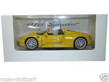 PORSCHE 918 SPYDER racinggelb Museo Edition Welly 1:24 map02484516 nuovo di fabbrica