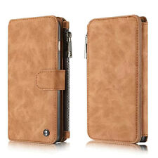 For Apple iPhone 6S /6S Plus Retro pattern Leather Zipper Card Slot Wallet Case