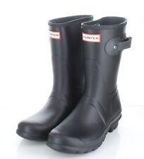 14-25 NEW $140 Women's Sz 7 M Hunter Original Tour Short Rain Boots In Black