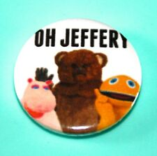 RAINBOW OH JEFFERY GEORGE ZIPPY AND BUNGLE CHILDRENS TV BUTTON PIN BADGES