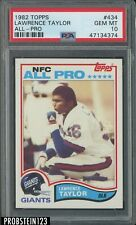 1982 Topps All-Pro Football #434 Lawrence Taylor RC Rookie HOF PSA 10 PACK FRESH