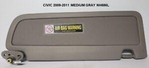 NEW OEM 2006-2011 Honda Civic Driver's Side Medium Gray NH686L