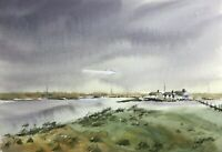 Chesil Beach Visitors Centre, Weymouth, Dorset, Original Signed Artwork