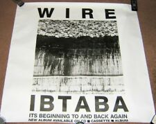 WIRE RARE UK REC COM PROMO POSTER 'IT'S BEGINNING TO AND BACK AGAIN' ALBUM 1989