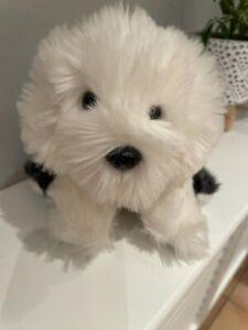 Dulux Dog Puppy Old English Sheepdog Blue Collar Plush Comforter Soft Toy Gift