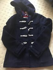 Hollister Women's  Plaid Winter Jacket Hood Navy Large