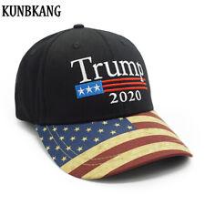 New Vintage Trump 2020 Hat USA Flag Baseball Cap Men Women Snapback Hats