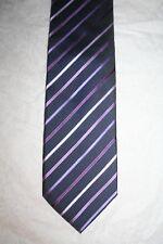 Men's Burton purple striped polyester tie, vgc, lovely tie