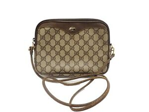 Authentic Gucci Shoulder Bag Cross Body PVC Old Vintage