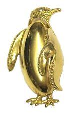 Gold Antique Vintage Crystal Penguin Brooch Pin Broach Women Fancy Dress Jewelry