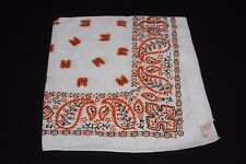 Orange Black & White Paisley & Flower Print Unisex Multi Occasion Bandana (S209)