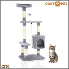 Cozy Pet Deluxe Cat Tree Sisal Scratching Post Quality Cat Trees - CT10-Grey