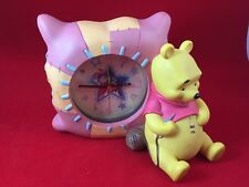 Disney Winnie the Pooh Kids Bedroom Alarm Clock with Pooh Figure Resin