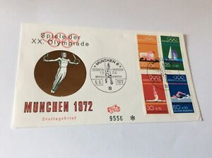 Olympic Games 1972 Germany cover with Munich stamps 2 Munchen